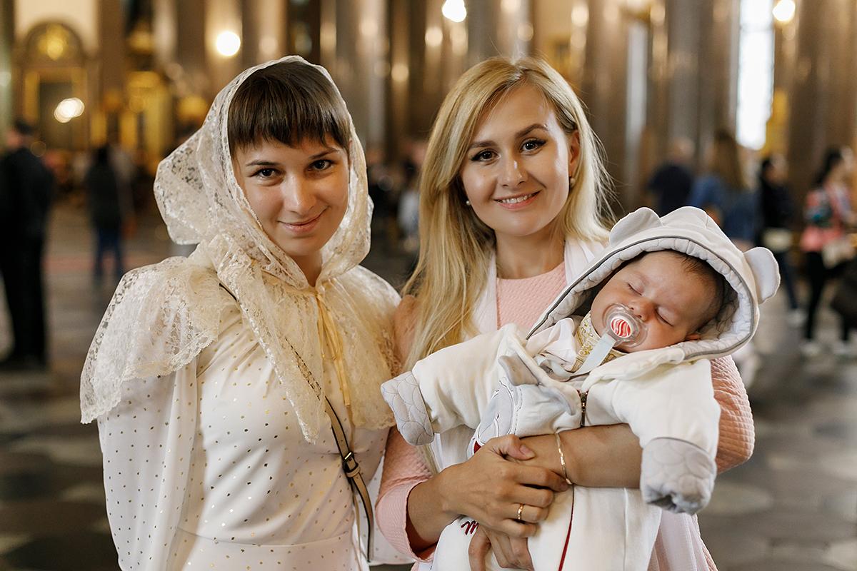 Крещение в Казанском соборе