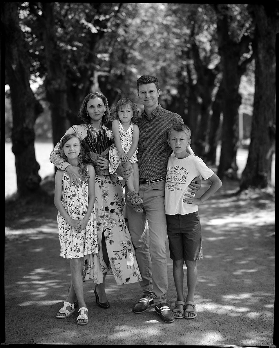 семейная пара семейная фотосессия на пленку