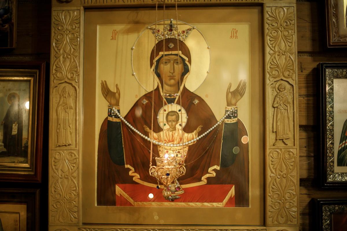 Крещение в Церкови Иконы Божией Матери Казанской. Вырица