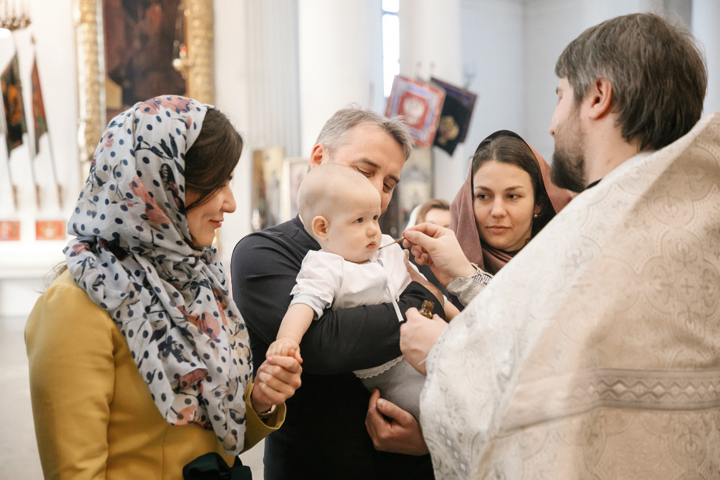 Крещение Михаила в Троицком соборе СПб